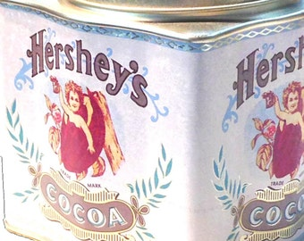 Vintage Hershey's Cocoa Tin Can Trinket Box or Biscuit Tin Collector's Item Excellent Condition