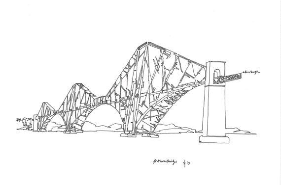 how to draw the sydney harbour bridge