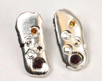 Warm Fade Interrupted Droplet Earrings