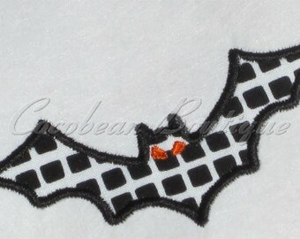 embroidery applique Bat