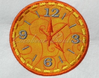 embroidery applique Clock