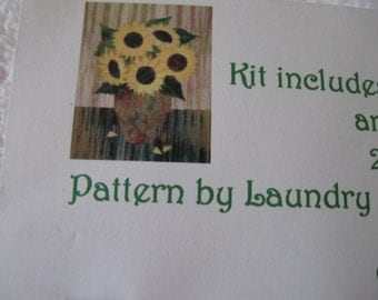Sunflower Quilt Kit with Batik Fabrics from High Prairie Quilts in Parker, CO
