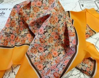 Vintage Orange Scarf / Fall Scarf Morsly Brand