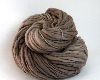 Titan - Hand Dyed Thick-n-Thin Merino Wool Bulky Yarn - Colorway: Mushroom