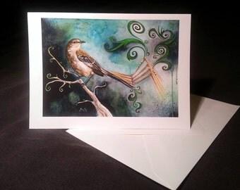 4x6 Note Card - To Mechanise a Mockingbird, Clockwork Bird