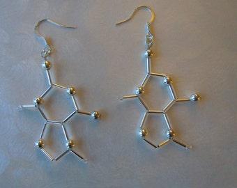 Biolojewelry - Theobromine (Chocolate) Earrings