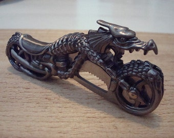 Fantasy Dragon Motorcycle Pocket Knife