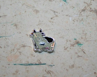 cow floating charm~ black and white cow charm~ cow charm for living locket