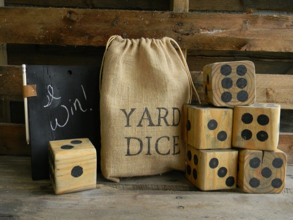 Giant Dice - Yard Dice with chalkboard tablet
