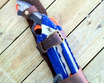 Handcrafted Leather Nerf Rough Cut 2x4 Holster