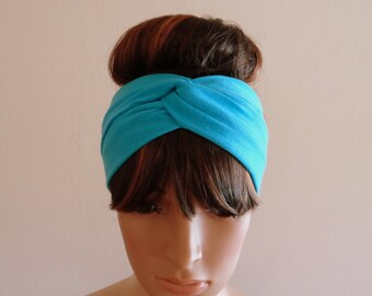 Light BlueTwist Headband.Twist Head Wrap