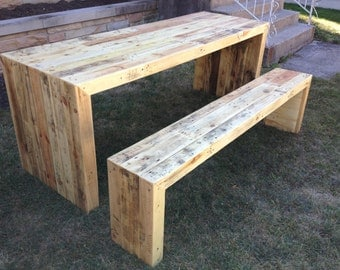 Reclaimed modern style table set