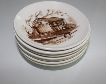 Lot of 7 small plates by Arabia Finland