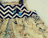 Baby Chevron and  Tie Dye Dress
