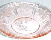Federal Pink SHARON CABBAGE ROSE 5 Inch Round Berry or Dessert Bowl