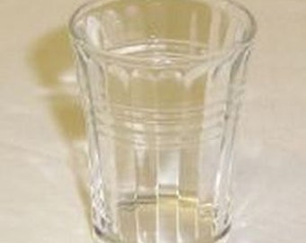 Hazel Atlas Crystal MODERNTONE Depression Glass 2 1/4 Inch High Whiskey Tumbler Glass