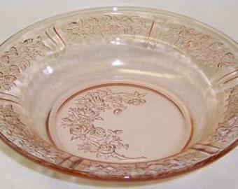 Federal Pink SHARON CABBAGE ROSE 7 1/2 Inch Flat Soup Bowl