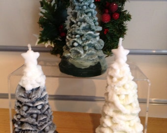 Christmas Tree Candles in 3 designs - Xmas decorations - Christmas gifts