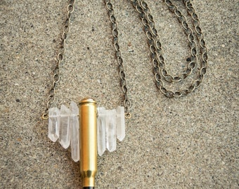 Crystal and Bullets Necklace (ITEM 38)