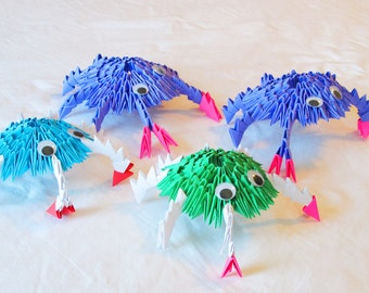 3D origami Happy Crab