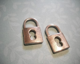 Lock Charm Pendants Steampunk Antiqued Silver Locks Wholesale Charms Wholesale Pendants-50pcs