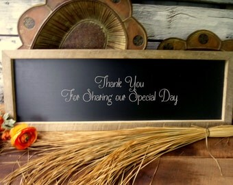 Chalkboard for Rustic Wedding, Sign, Menu Sign