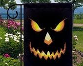 Halloween Pumpkin Head Jack O Lantern New Small Garden Yard Flag, Home Decor