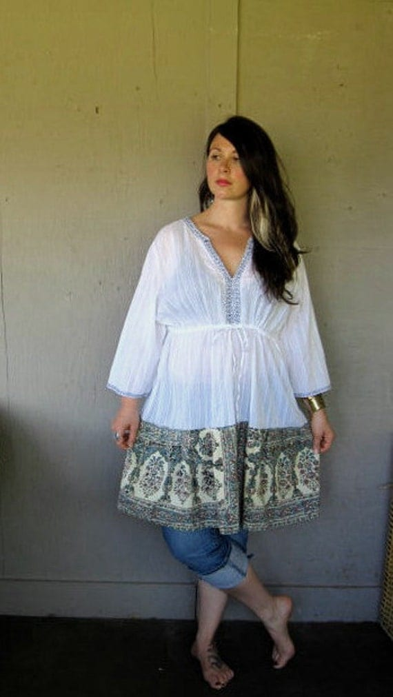 Plus Size Clothing Bohemian upcycled clothing Funky
