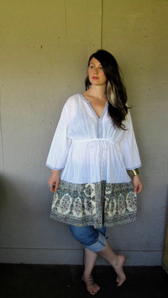 Hippie Boho Clothing Plus Size upcycled clothing Funky