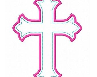 Instant Download Cross Applique Machine Embroidery Design NO:1403