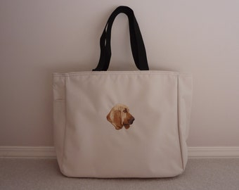 Bloodhound embroidered tote bag