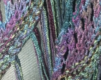 one of a kind hand knit shawl