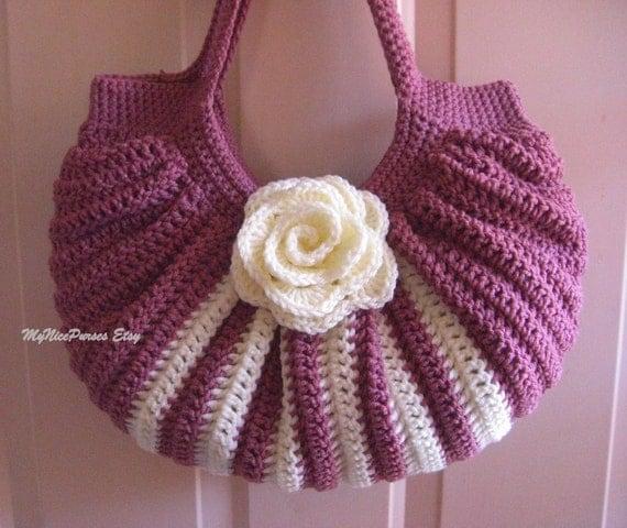 Crochet fat bottom summer shoulder bag, fashion summer/fall shoulder ...