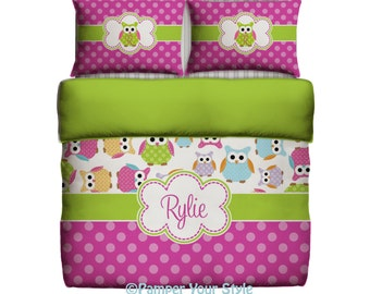 Awesome Owl Bedding   Custom Toddler Bedding   Owl Personalized Bedding   Create  Your Own Bedding,