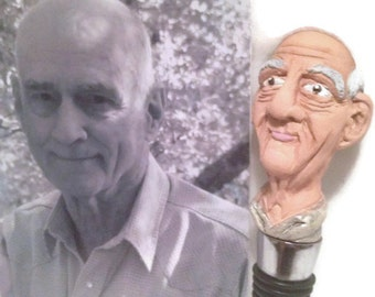 Custom Sculpted Wine Stoppers: Christmas orders by Dec. 14, sculpture modeled after photograph READ DESCRIPTION!!!