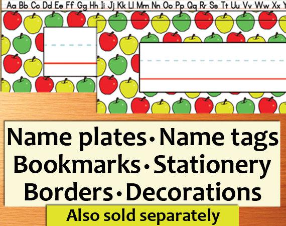 Student Name Plates: PRINTABLE Classroom Name Tags Printable Name Tags Name