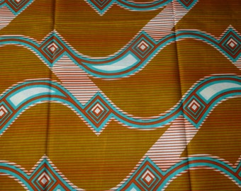 African Veritable Block Wax Prints Cotton Fabrics Sold By Yard (VITENGE)