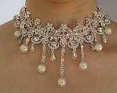 Athena love Victorian style wedding bridal choker necklace