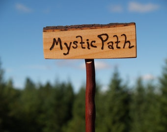 Fairy Garden Sign, Mystic Path, Fairy Gardens