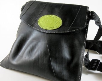 Recycled Tires Handbag: Revved Up Tire Shoulder Pouch Handbag