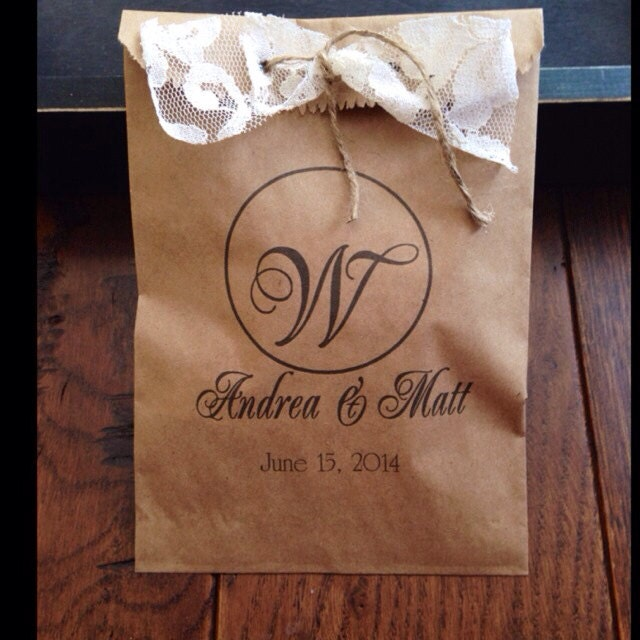 Wedding Favor Bags For Cookies : Custom Wedding Favors Weddings Candy Buffet Bag by DetailsonDemand