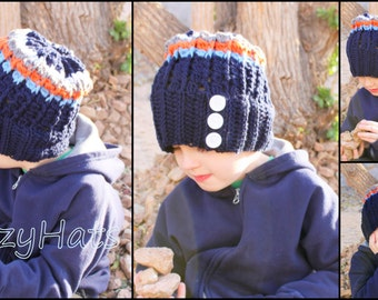 Crochet slouch hat.Made to order.