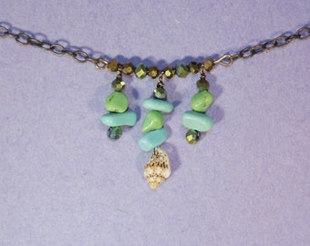 Turquoise, Little Shell Necklace