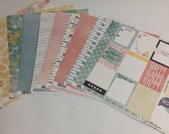 Carta Bella Collection Paper HELLO AGAIN 12 x 12 inches