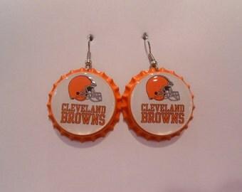 Cleveland Browns bottle cap earrings