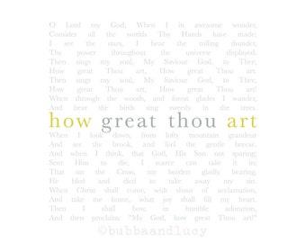 how great thou art hymn pdf