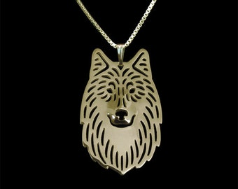 Wolf - gold pendant and necklace.