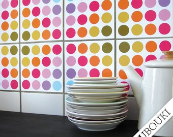 """TILE DECALS - set of 4 - """"DOTTY"""""""