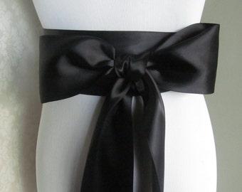 Black Double Face Sash  Ribbon /  Ribbon Sash /    12ft sash / 9ft sash / 6ft sash
