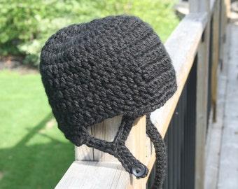 Hockey Helmet Hat Crochet Pattern - Newborn - Toddler - Child - Adult